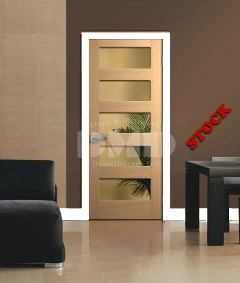 5 Lite Shaker Poplar Door 6u0027-8  | Door and Millwork Distributors Inc. Chicago wholesale resource for Interior  Exterior Fire Rated Doors and Mouldings. & 5 Lite Shaker Poplar Door 6u0027-8
