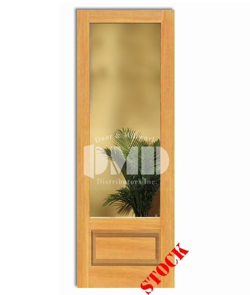 1 lite clear glass bottom panel 3 4 pine 8 0 96 door