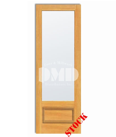 1 Lite French Frosted Glass Bottom Panel 3 4 Pine 8 0