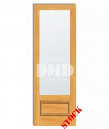 1 lite french frosted glass bottom panel pine interior wood door dmd chicago wholesale distributor 8-0 2