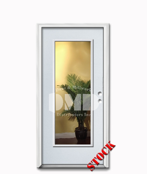 1 lite clear glass steel exterior door 6-8 dmd chicago wholesale distributor