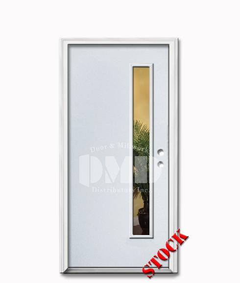 1 lite flush steel exterior door 6 8 door and millwork for Flush exterior door