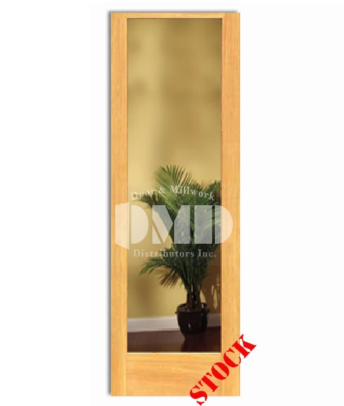 1 Lite French Clear Glass Pine 8-0