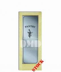 1 lite frosted pantry glass poplar 6-8 interior wood door dmd chicago wholesale distributor