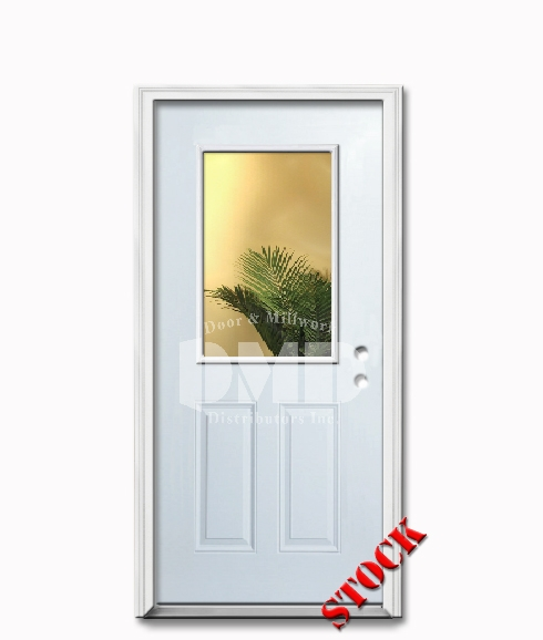 1 lite half clear glass steel exterior door 6 8 door and for Half glass exterior door