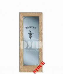 1-lite-clear-pantry-oak-6-8 wood interior door dmd chicago, wholesale distributor