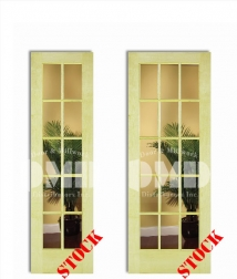 10 15 lite clear glass poplar 6-8 interior wood french door clear glass poplar dmd chicago wholesale distributor