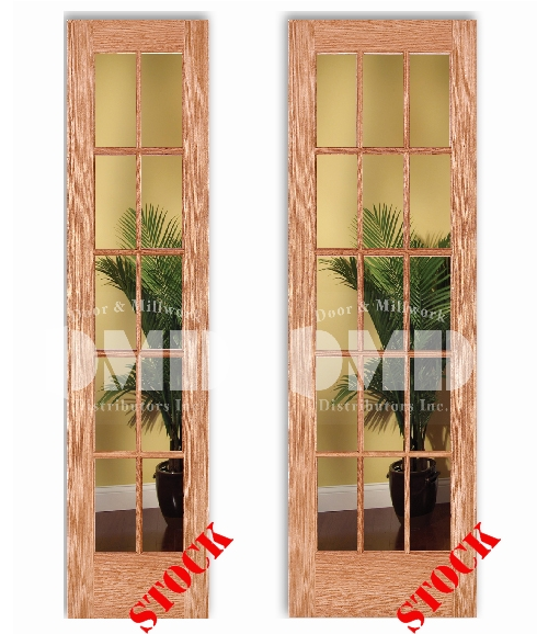 10 15 Lite French Clear Glass Red Oak 8 0 Quot 96 Quot Door