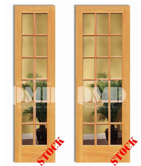 12 18 Lite French Clear Glass Pine 8 0 Quot 96 Quot Door And