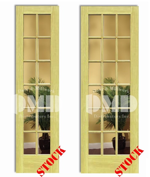 12 18 lite french clear glass poplar 8 39 0 96 door for 96 inch exterior french doors