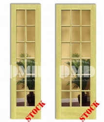 12 18 lite clear poplar 8-0 interior wood door french dmd chicago wholesale distributor
