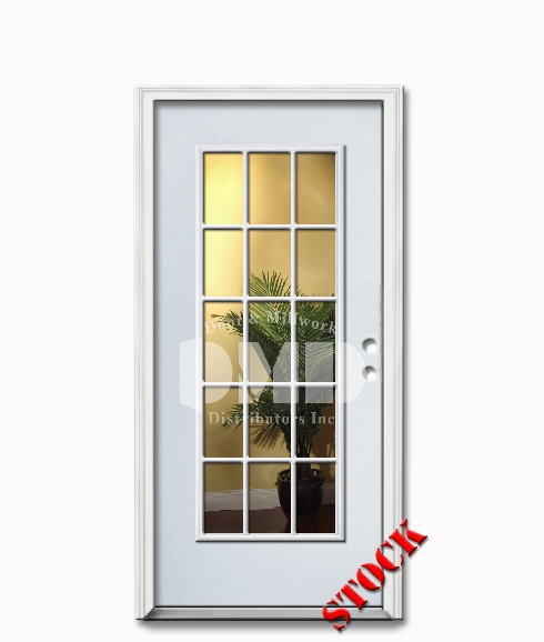 15 Lite Clear Glass Steel Exterior Door 6 8 | Door And Millwork  Distributors Inc. Chicago Wholesale Resource For Interior , Exterior, Fire  Rated Doors And ...