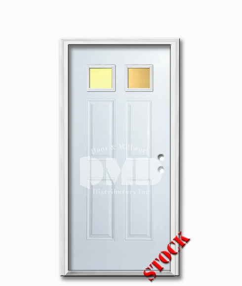 2 Lite Steel Exterior Door 6-8