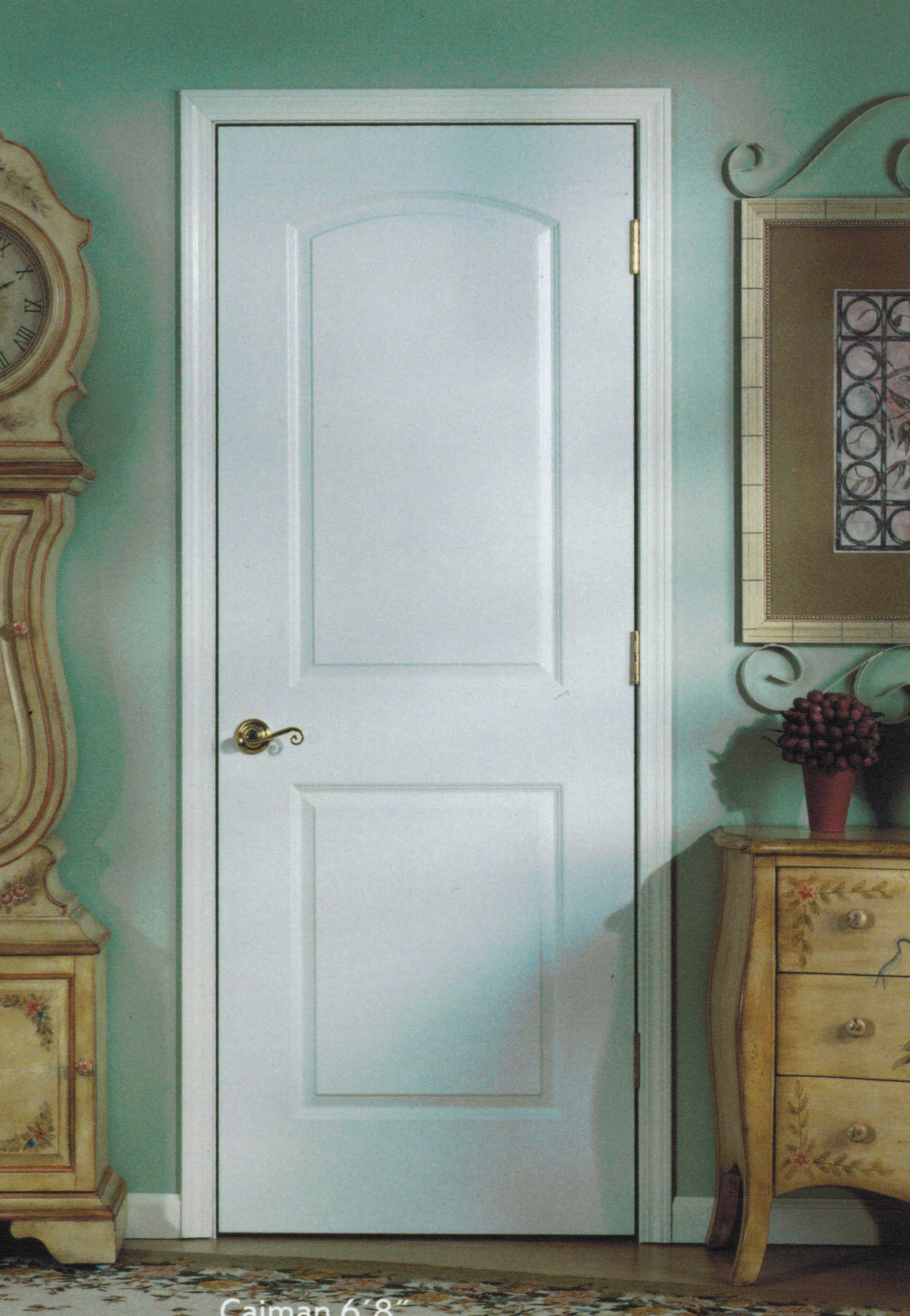 2298 #5F4D36  * 2 Panel Arch Hollow Core Caiman 6′ 8″ (80″) On 4 5/8  wallpaper 6 Panel Interior Doors Hollow Core 15351589