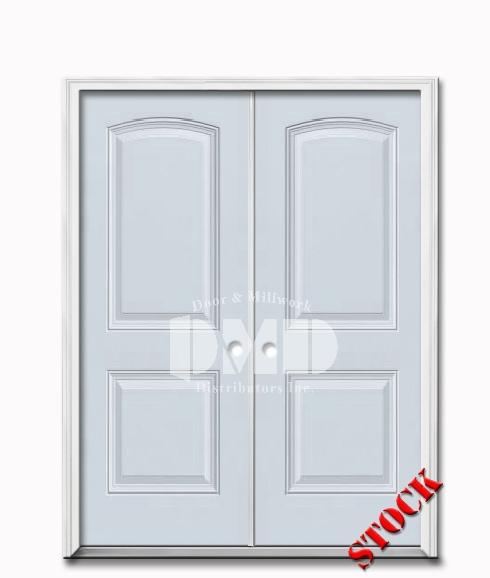 2 Panel Arch Steel Exterior 6-8 Double Door