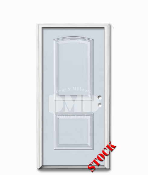 2 Panel Arch Steel Exterior Door 6 8 Door And Millwork