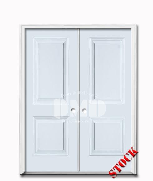 2 Panel Square Steel Exterior 6-8 Double Door