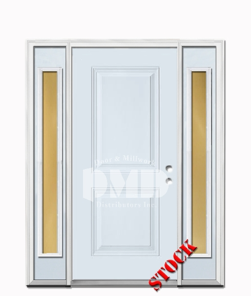 2 Panel Square Steel Exterior Door with Sidelites 6-8 | Door and ...