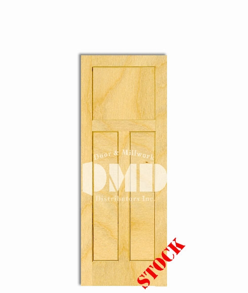 3-panel-mission-6-8 white birch interior woo door dmd chicago wholesale distributor