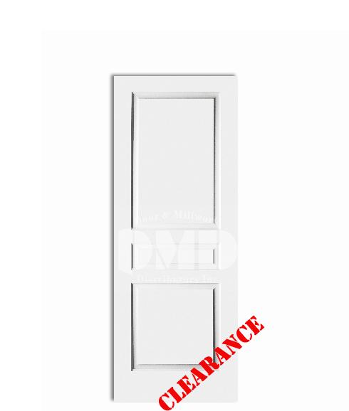 3 panel raised square top solid core 6 39 8 80 door for Solid core exterior door