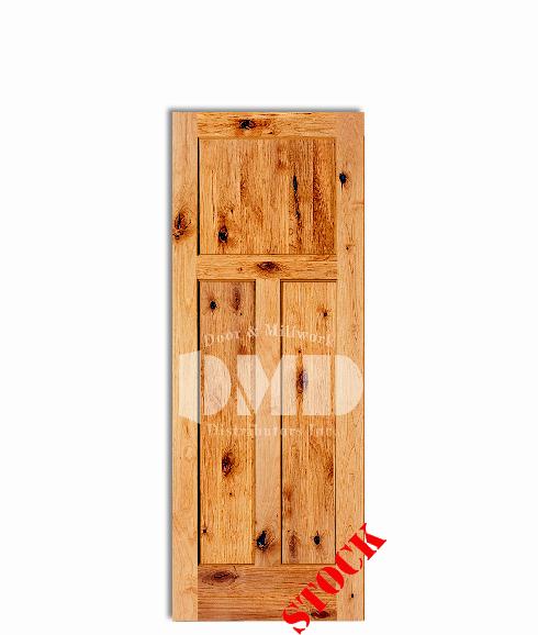 3 Panel Shaker Style Knotty Alder Rustic 6 39 8 80 Door And Millwork Distributors Inc
