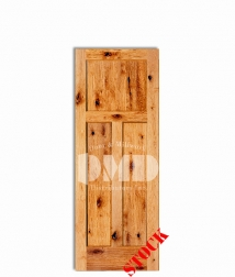 3 panel shaker style knotty alder 6-8 interior door dmd chicago wholesale distributor