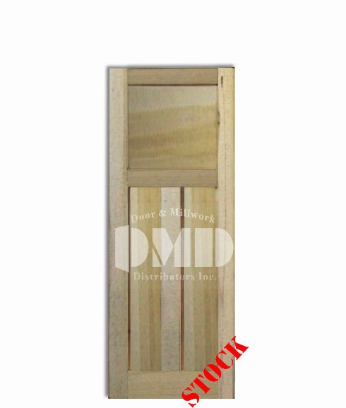 3 Panel Shaker Style Poplar 6'-8