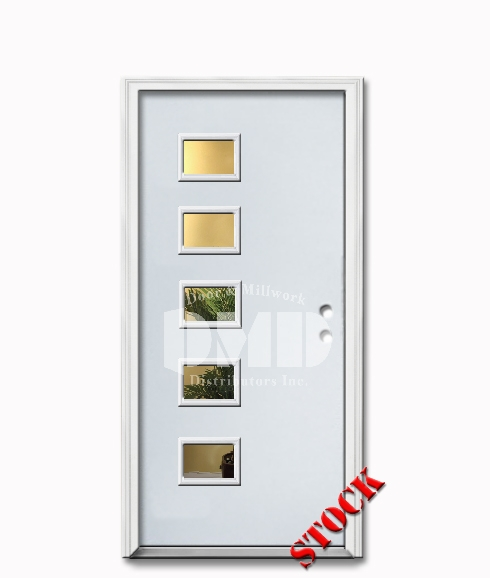 5 Lite Flush Steel Exterior Door 6-8