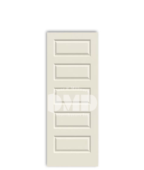 5 panel raised door rockport from jeld-wen primed interior doors dmd chicago wholesale distributor