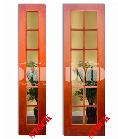 6 12 Lite French Clear Glass Mahogany 8 0 96 Door And