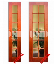 6 12 lite clear glass mahogany 8-0 french wood interior door dmd chicago wholesale distributor