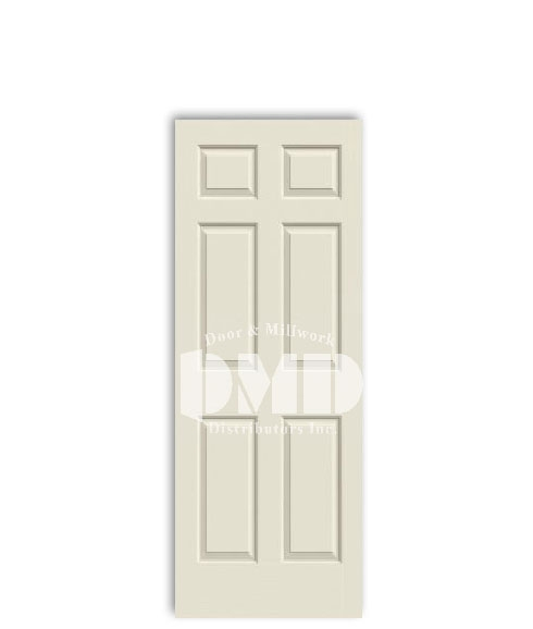 6 panel colonial door from jeld-wen primed interior dmd chicago wholesale distributor