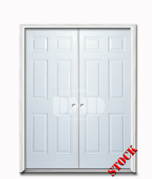 6 Panel Steel Exterior 6 8 Double Door Door And Millwork Distributors Inc Chicago Wholesale