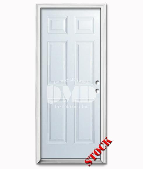 6 Panel Steel Exterior Door 8-0