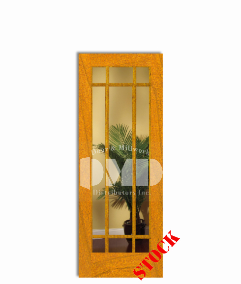 9 Lite French Clear Glass Cherry 6 8 80 Door And Millwork