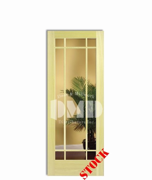 9 Lite French Clear Glass Poplar 6 39 8 80 Door And Millwork Distributors Inc Chicago