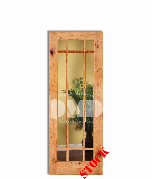 9 Lite French Clear Glass Knotty Alder Rustic 6 8 Quot 80