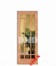 9-lite-clear-glass-oak wood interior door dmd chicago, wholesale distributor