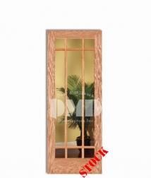9-lite-clear-glass-oak wood interior door dmd chicago, wholesale distributor