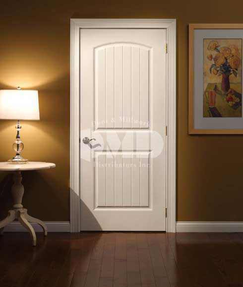 Arch top 2 panel plank door cashal from craftmaster door and millwork distributors inc for 2 panel arch top interior doors