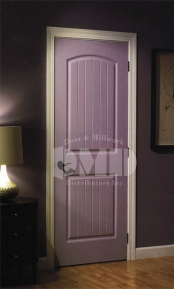 Arch Top 2 Panel Plank Door Cashal From Craftmaster Door