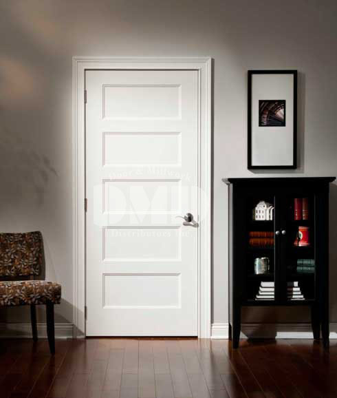 5 panel flat door conmore from craftmaster door and for Interior panel doors
