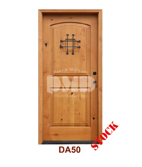 DA50 Knotty Alder 2 Panel Arch w/speak easy door dmd chicago wholesale distributor