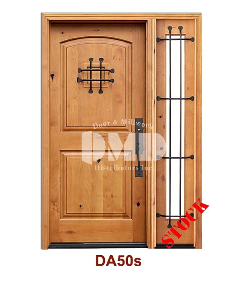 DA50s Knotty Alder 2 Panel Square w/speak easy door dmd chicago wholesale distributor