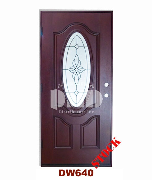 dark walnut exterior fiberglass door - dmd chicago wholesale distributor