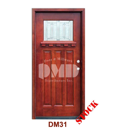 Dm31 Mahogany Exterior One Lite Craftsman Diablo Zinc Caming Door And Millwork Distributors