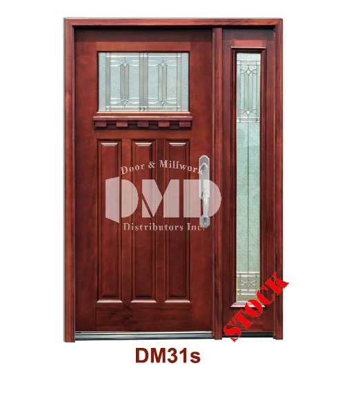 DM31s Mahogany Exterior One Lite Craftsman Diablo Zinc Caming door dmd chicago wholesale distributor