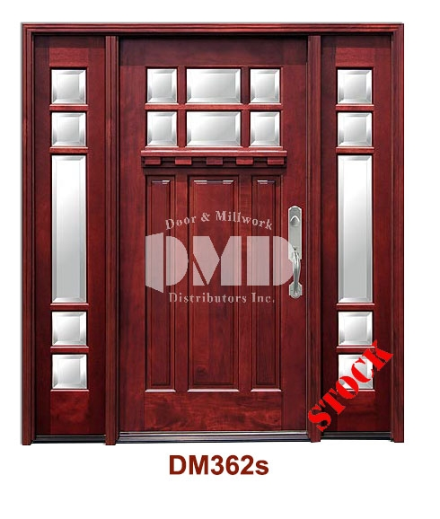 DM362s Mahogany Exterior Six Lite Craftsman with Bevel IG Glass door dmd chicago wholesale distributor