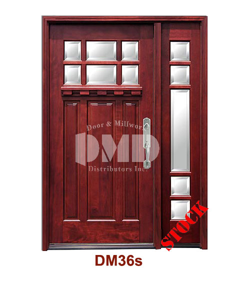 Dm36s Mahogany Exterior Six Lite Craftsman With Bevel Ig Glass Door And Millwork Distributors