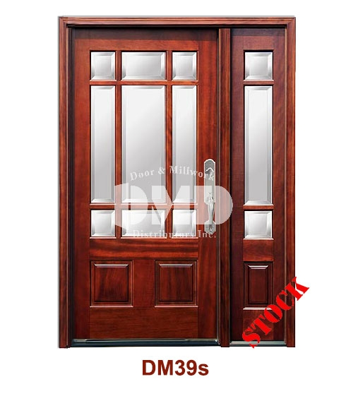 DM39s Mahogany Exterior Nine Lite Craftsman with Bevel IG Glass dor dmd chicago wholesale distributor